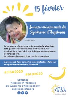 affiche journée internationale sur le syndrome d'Angelman le 15 février
