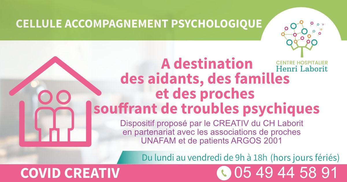 Cellule ds soutien psychologique pour les proches aidants de personnes souffrant de troubles psychiques